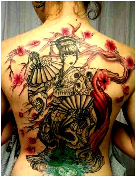 Geisha Tattoo Designs (33)