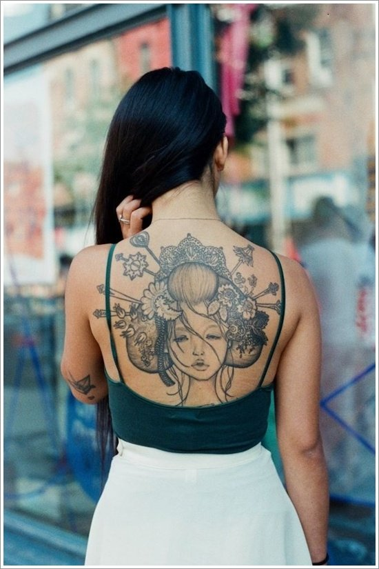 Geisha Tattoo Designs (34)