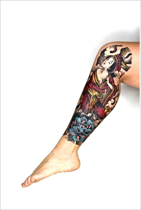 Geisha Tattoo Designs (37)