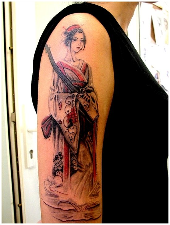 Geisha Tattoo Designs (38)