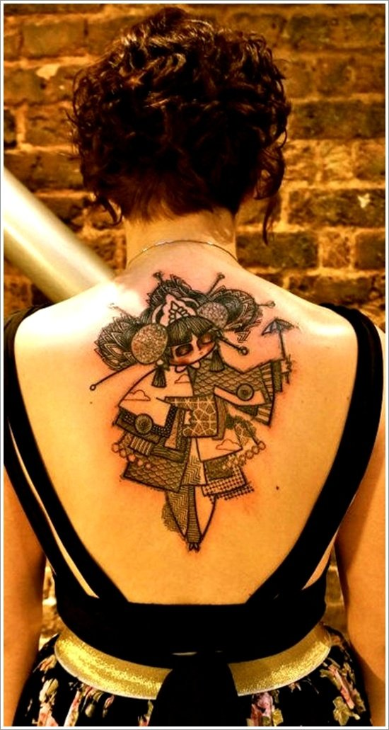 Geisha Tattoo Designs (4)
