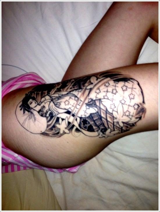 Geisha Tattoo Designs (9)