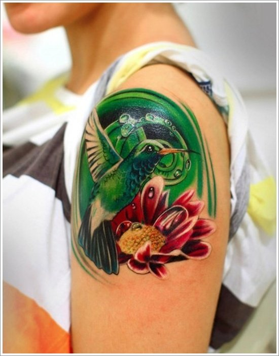 Hummingbird tattoo designs (17)