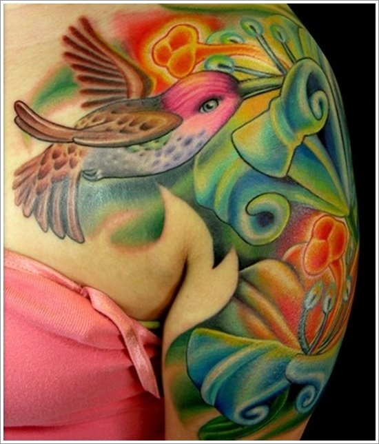 Hummingbird tattoo designs (26)