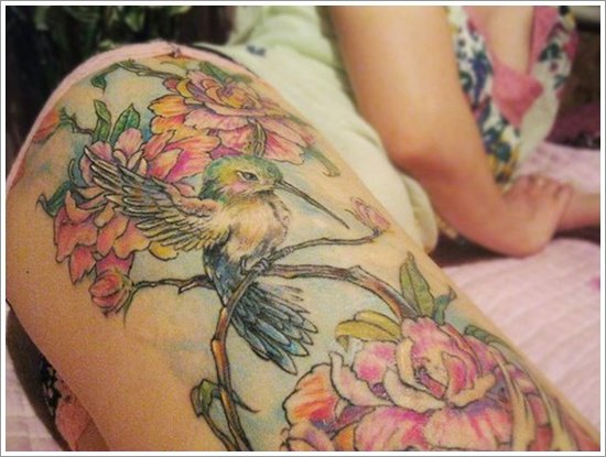 Hummingbird tattoo designs (30)