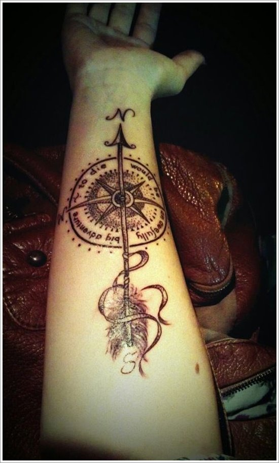 compass tattoo designs (10)