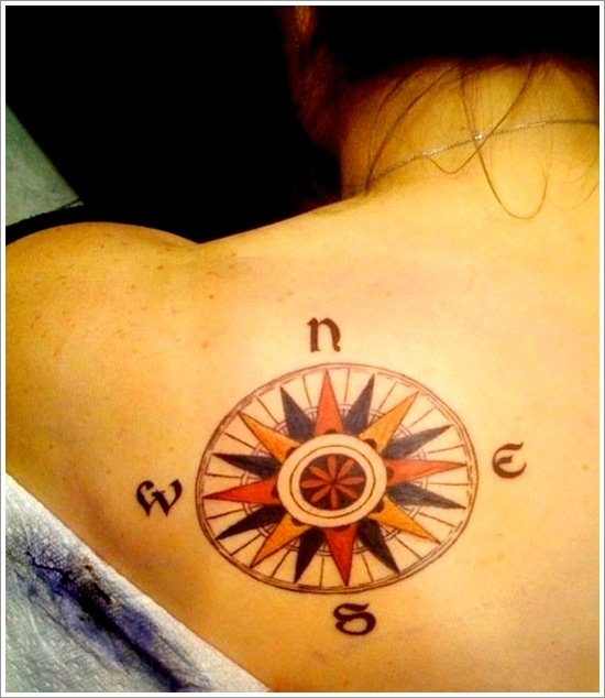 compass tattoo designs (12)