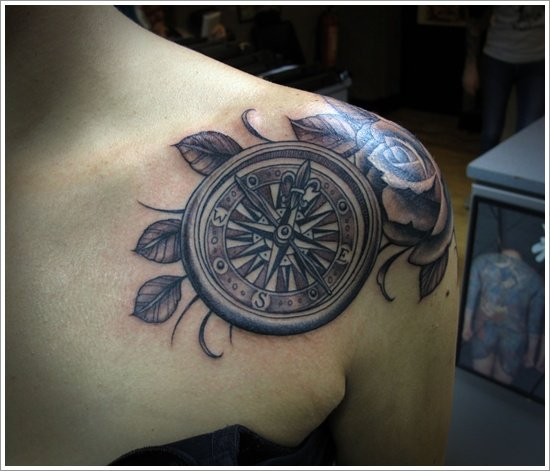 compass tattoo designs (16)