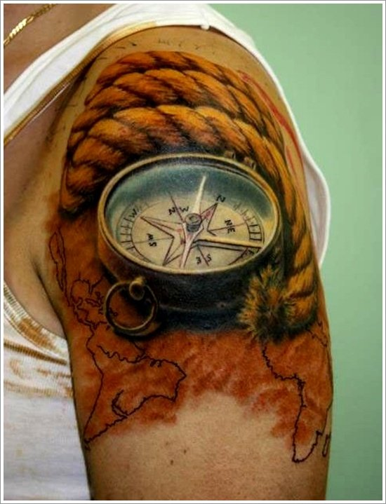 compass tattoo designs (17)