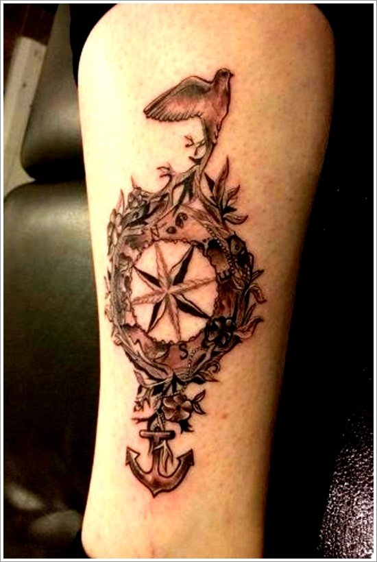 compass tattoo designs (2)