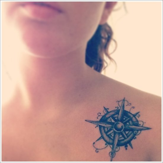 compass tattoo designs (20)