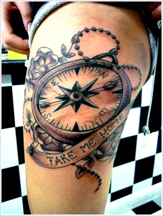 compass tattoo designs (21)