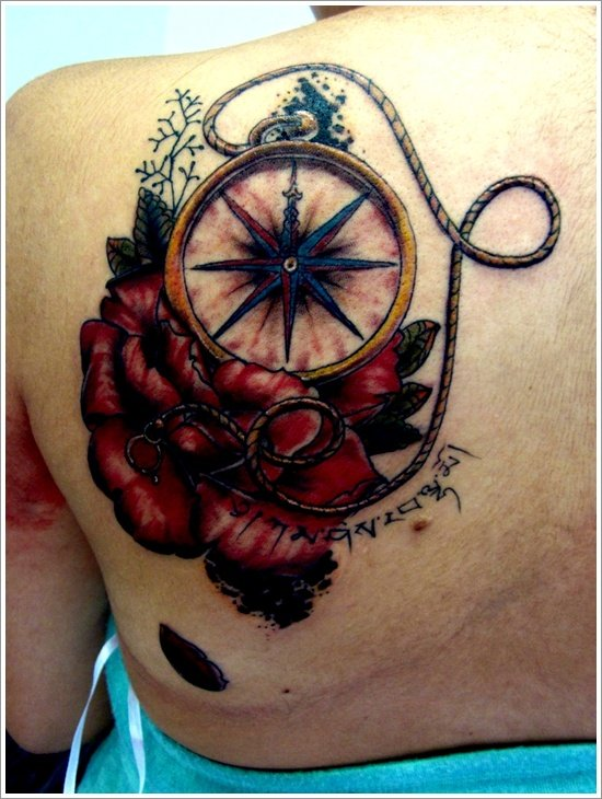 compass tattoo designs (23)