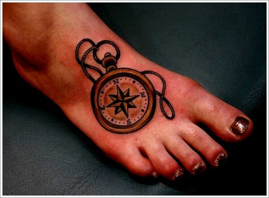 compass tattoo designs (24)