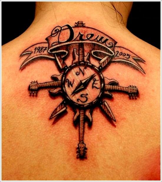 compass tattoo designs (25)