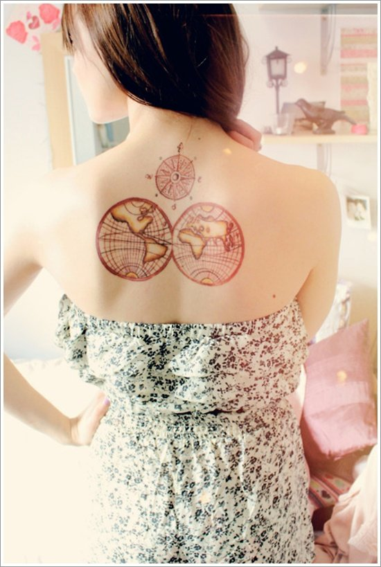 compass tattoo designs (27)