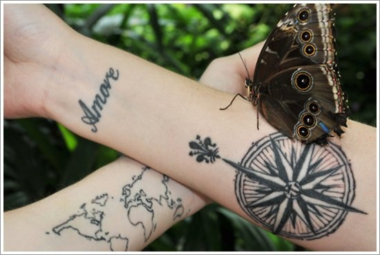 compass tattoo designs (29)