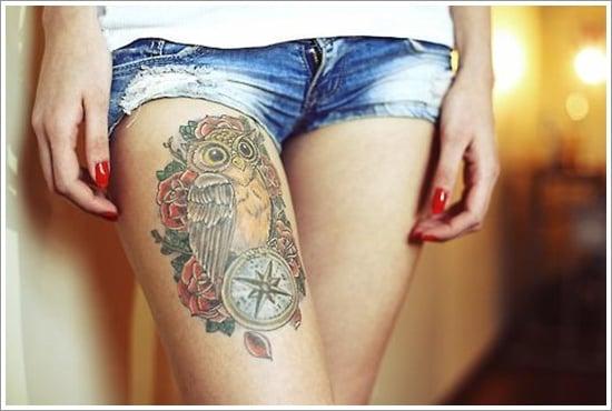 compass tattoo designs (30)