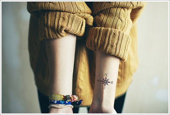compass tattoo designs (32)