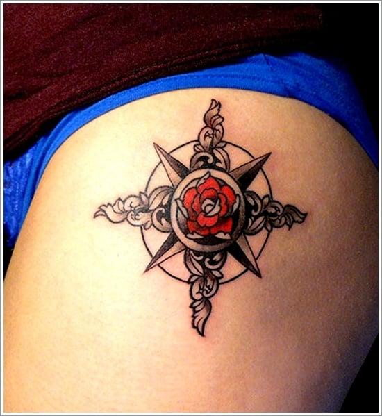 compass tattoo designs (4)