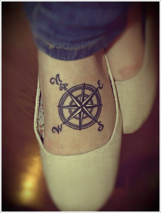 compass tattoo designs (6)