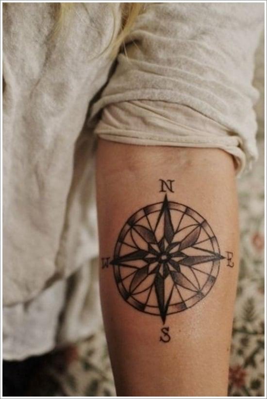 compass tattoo designs (8)