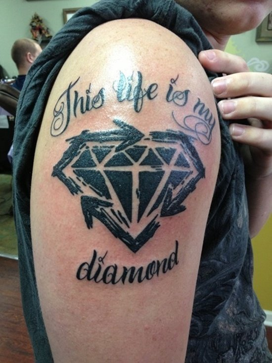 29 Sparkling Diamond Tattoo Designs