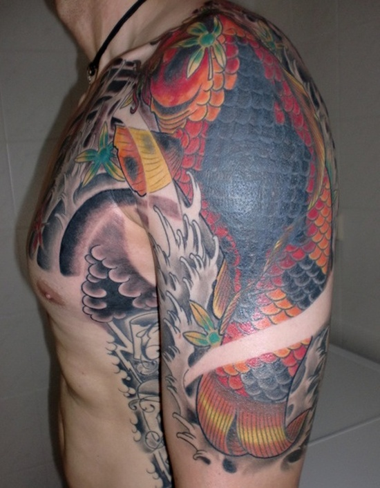 25 yakuza tattoo art forms for Japanese sleeve tattoos meanings