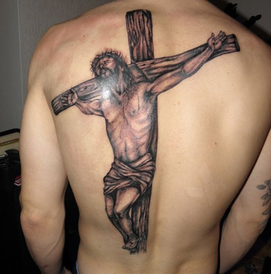 25 crucifix tattoo designs for men. Black Bedroom Furniture Sets. Home Design Ideas