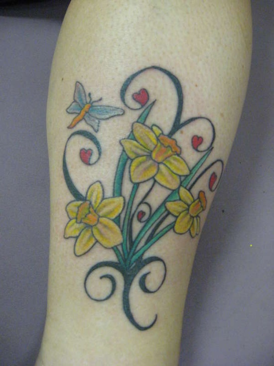 Simple bright and yellow daffodil when you talk of spring then