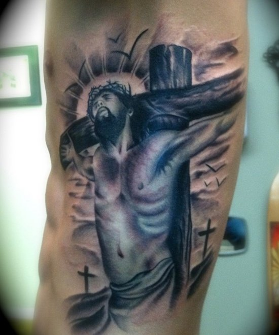 25 crucifix tattoo designs for men for How long can you donate blood after getting a tattoo