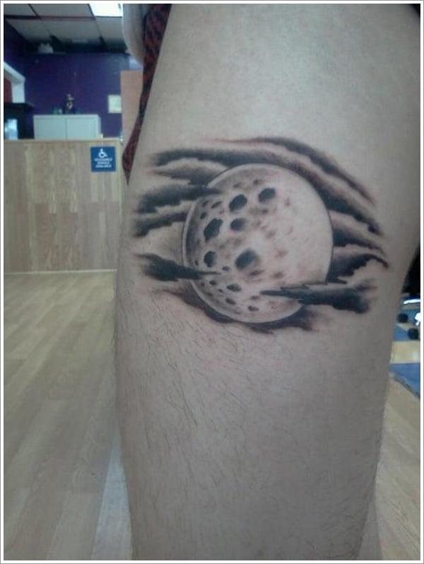 31 striking moon tattoo designs. Black Bedroom Furniture Sets. Home Design Ideas