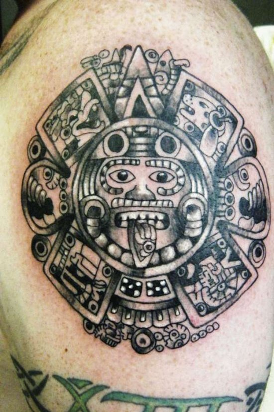 30 Aztec Inspired Tattoo Designs For Men
