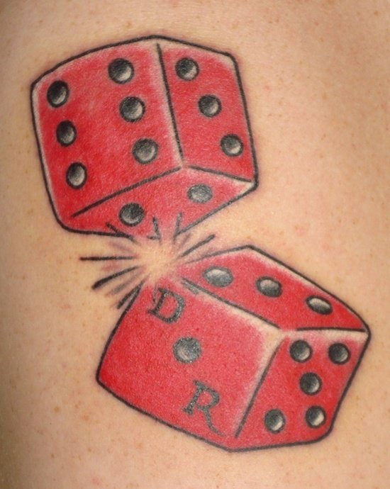 30 best dice tattoo designs to try with. Black Bedroom Furniture Sets. Home Design Ideas