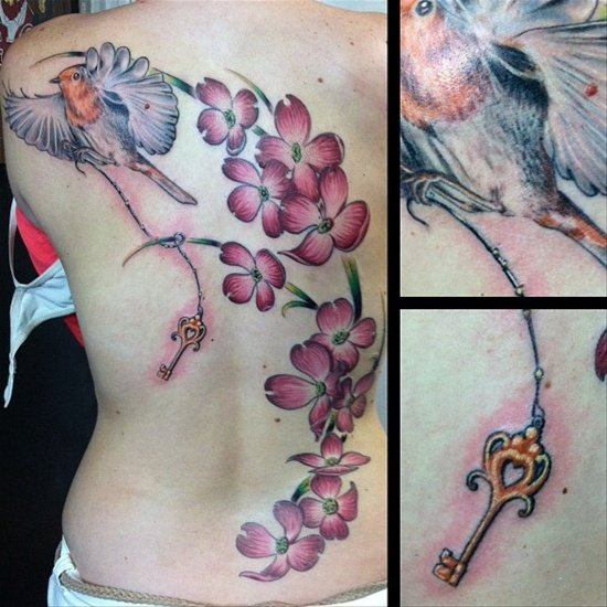 dogwood flower tattoo (13)
