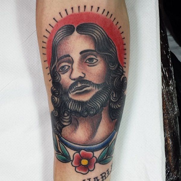 Jesus christ symbol cross tattoo