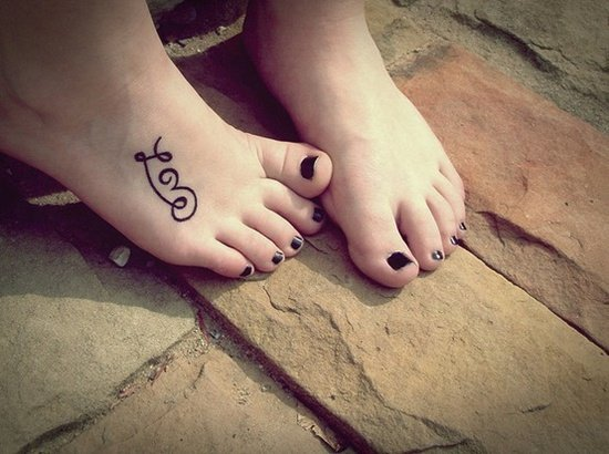 75 cool foot and flip flop tattoos. Black Bedroom Furniture Sets. Home Design Ideas