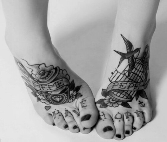 Feet Tattoo Designs (39)