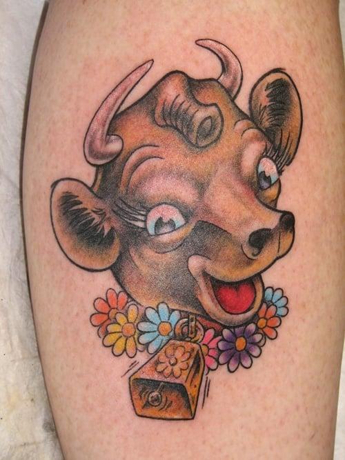 cow tattoo (5)