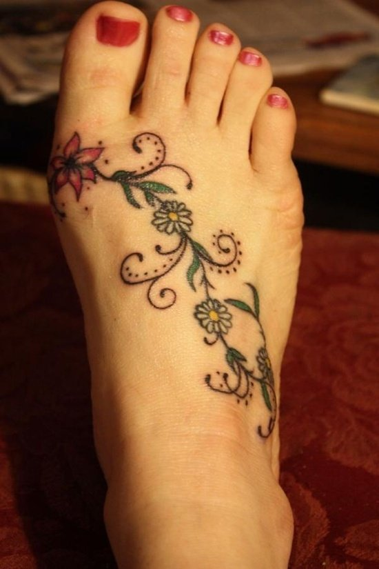 daisy tattoo (1)