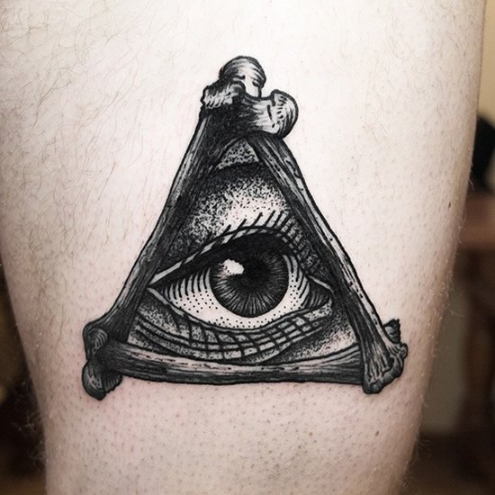 Realistic Evil Eye Tattoo
