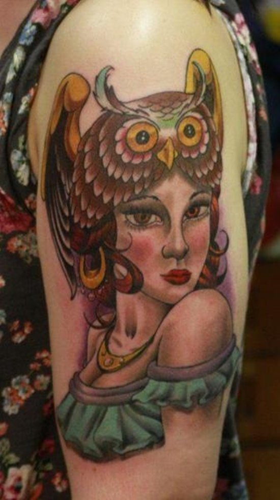 owl tattoo (17)
