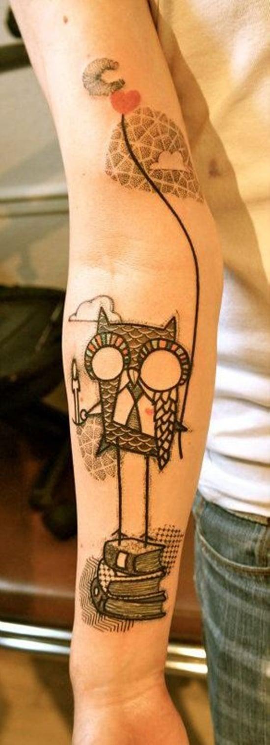 owl tattoo (22)