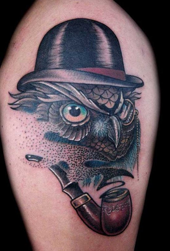 40 cool owl tattoo design ideas with meanings for Tribal owl tattoo