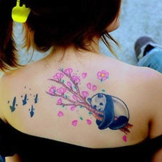 25 awesome panda bear tattoo ideas. Black Bedroom Furniture Sets. Home Design Ideas
