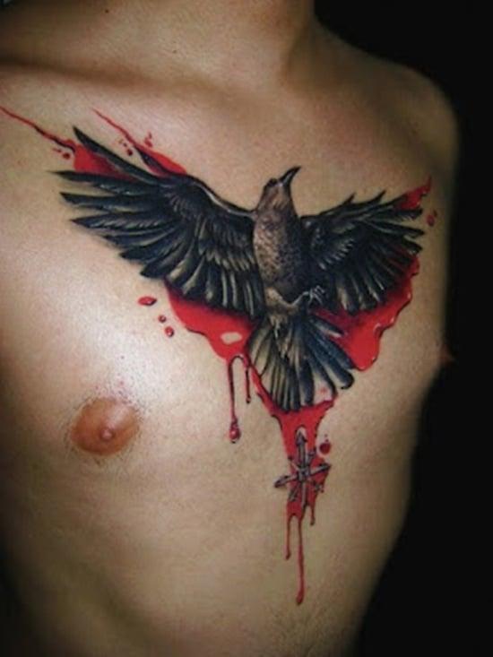 55 artistic raven tattoo designs. Black Bedroom Furniture Sets. Home Design Ideas