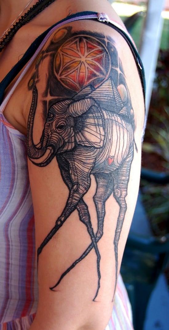 salvador dali tattoo (16)