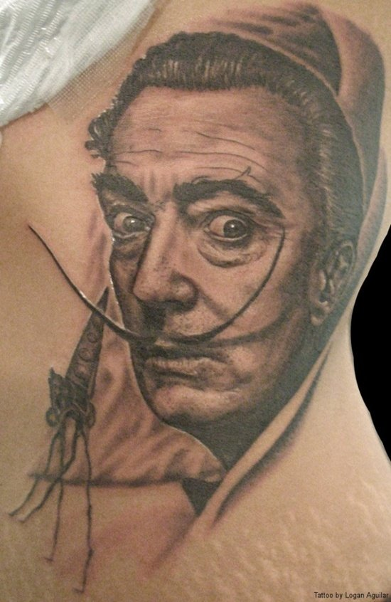 salvador dali tattoo (6)