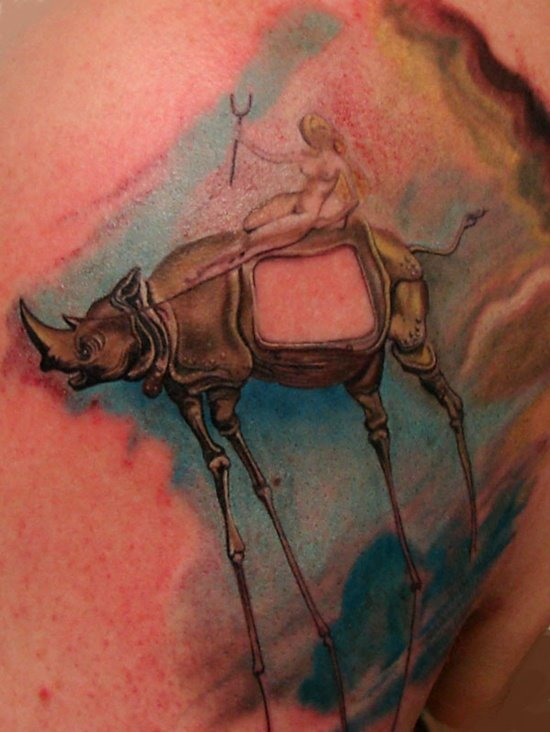 salvador dali tattoo (8)