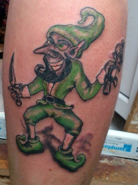 12-Leprechaun Tattoo